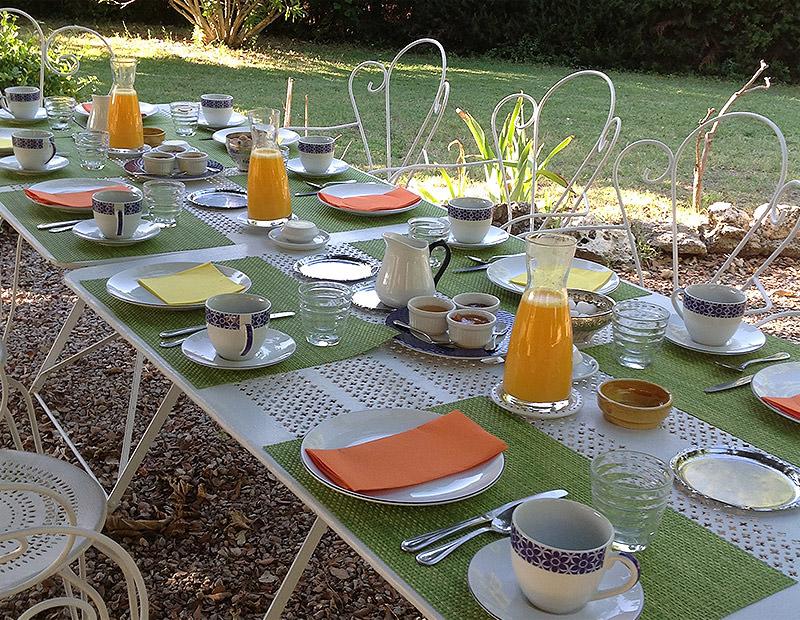 Petits déjeuner copieux de Provence